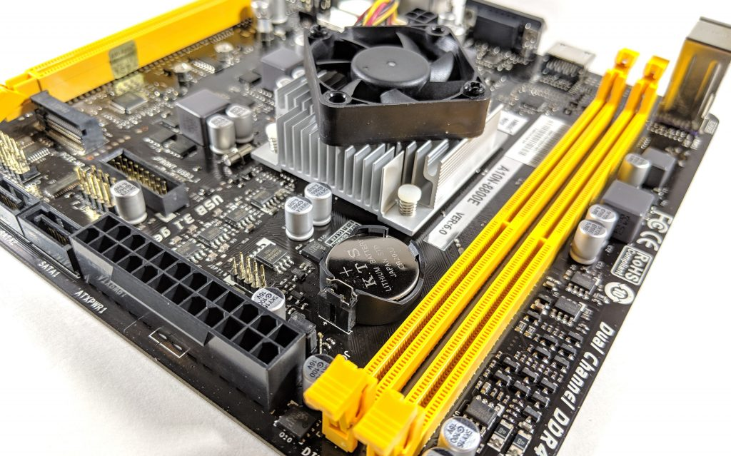 Biostar A10N-8800E Motherboard DDR4 Slots