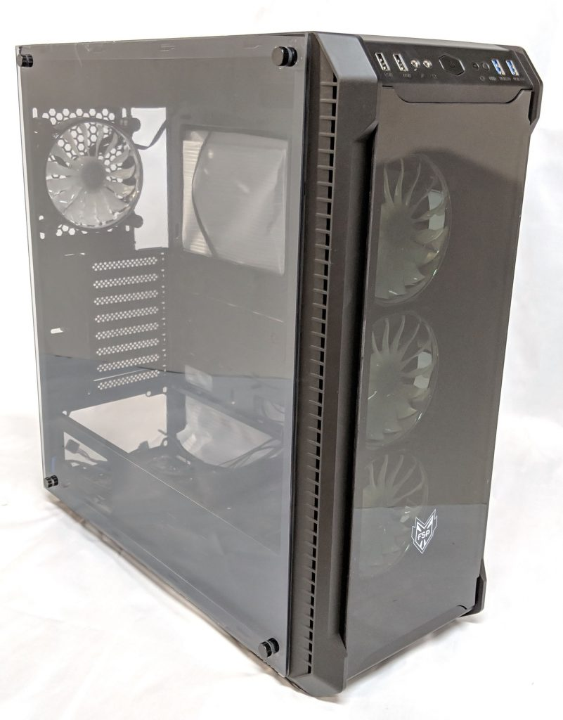 FSP CMT520 Plus PC Case Front Left
