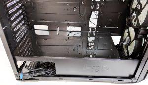 FSP CMT520 Plus PC Case PSU Shroud Installed