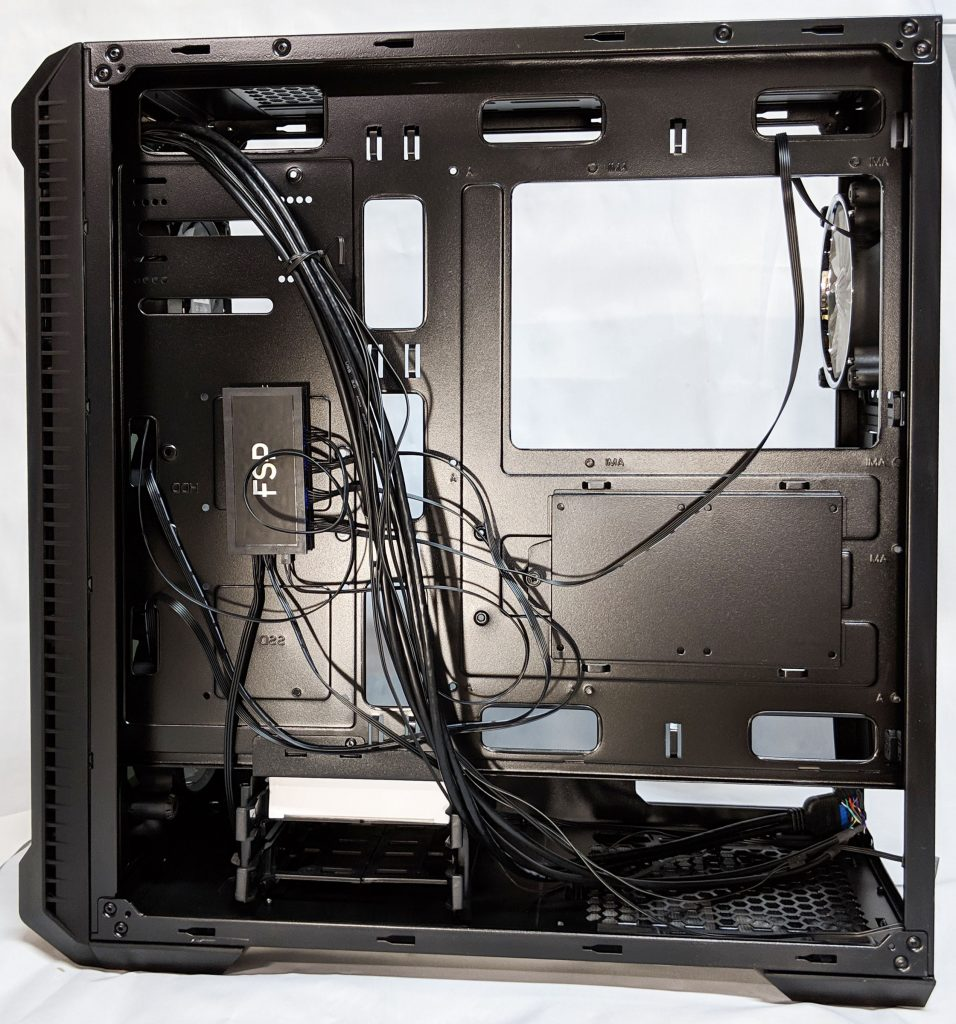 FSP CMT520 Plus PC Case MB Tray Behind