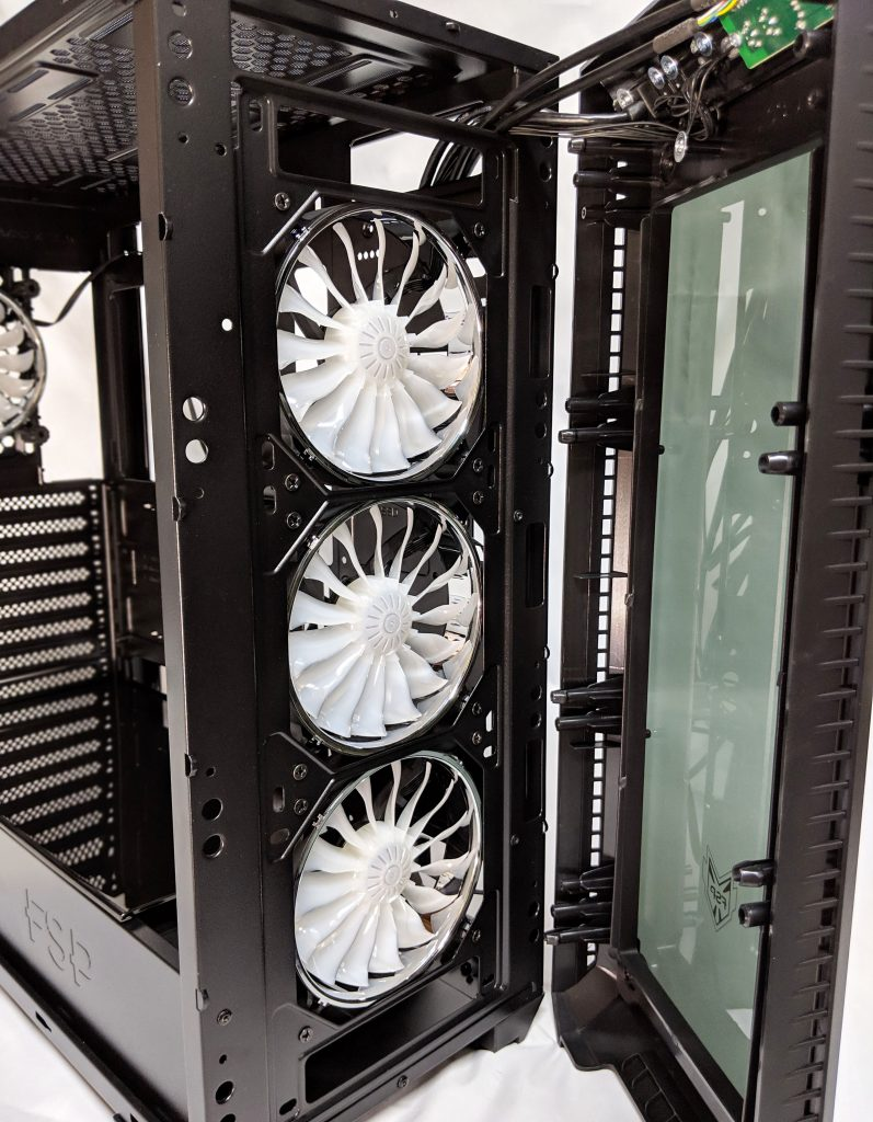 FSP CMT520 Plus PC Case Front Panel Removed