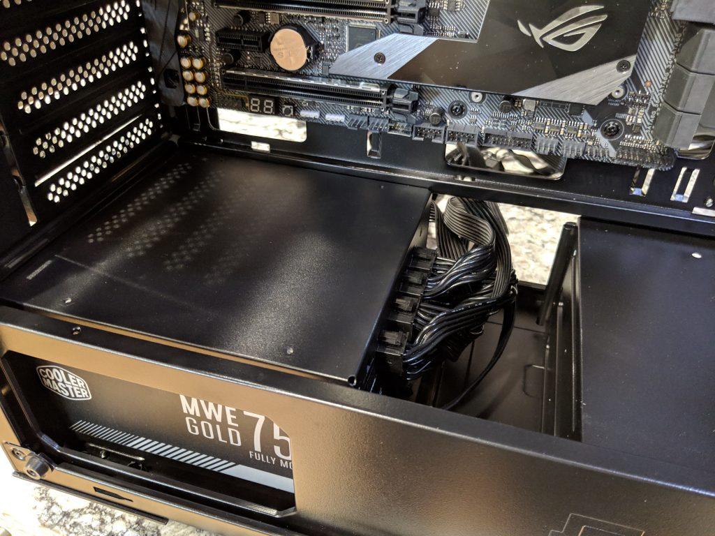 FSP CMT520 Plus PC Case PSU Install