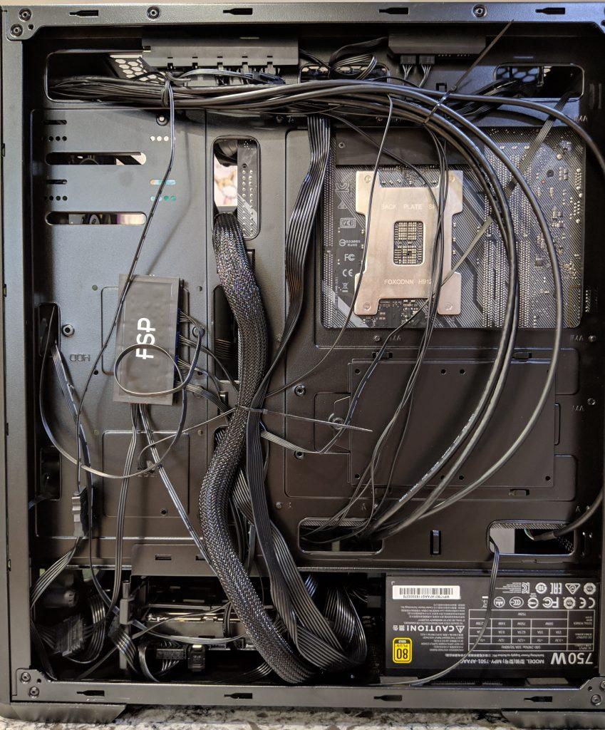 FSP CMT520 Plus PC Case Back Install