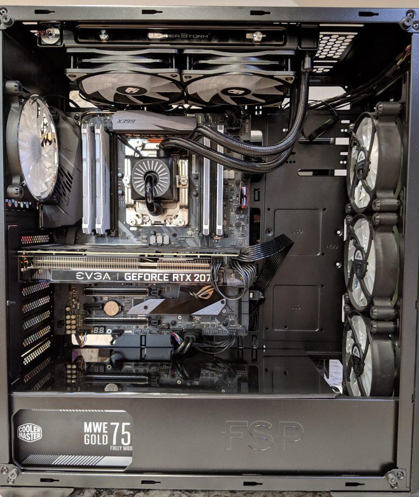 FSP CMT520 Plus PC Case Front Install