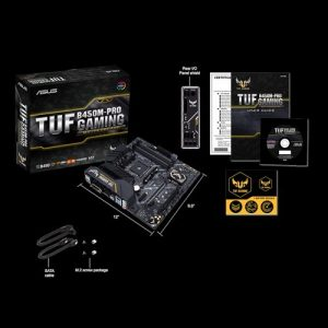 ASUS TUF B450M-Pro Gaming AM4 Motherboard Included Items