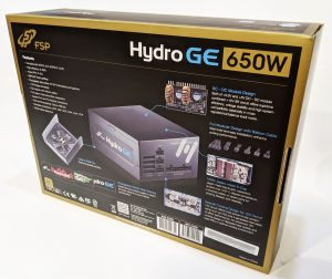 FSP Hydro GE 650W PSU Box Back