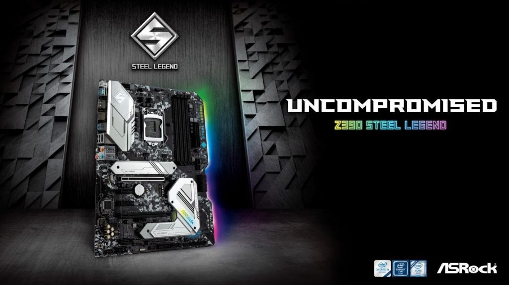 ASRock Z390 Steel Legend Motherboard Featured