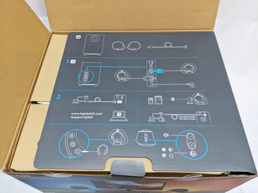 Logitech G560 Gaming Speaker Inside Flap 2