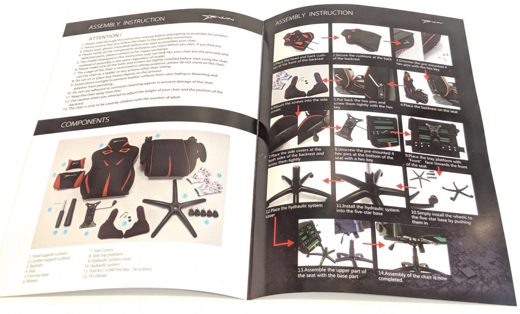 Ewin Calling Series gaming chair Instructions