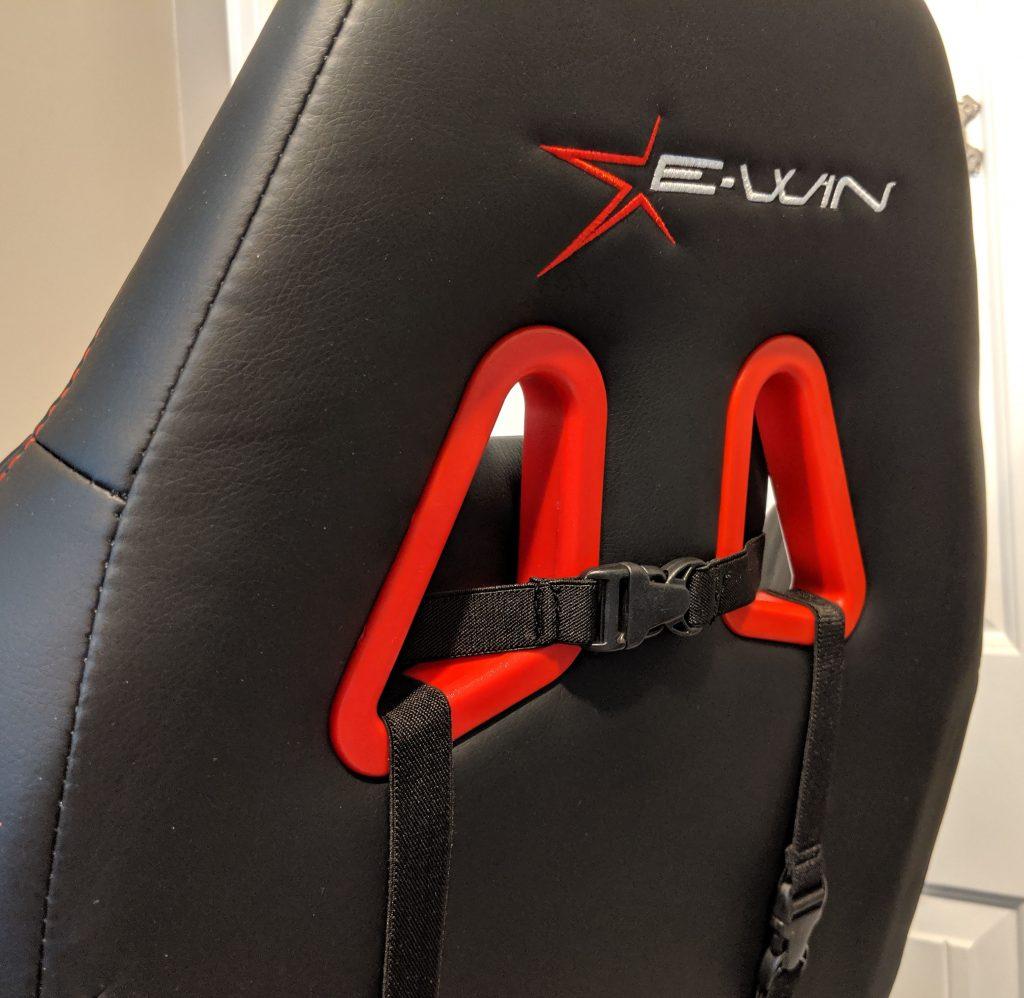Ewin Calling Series gaming chair back Logo