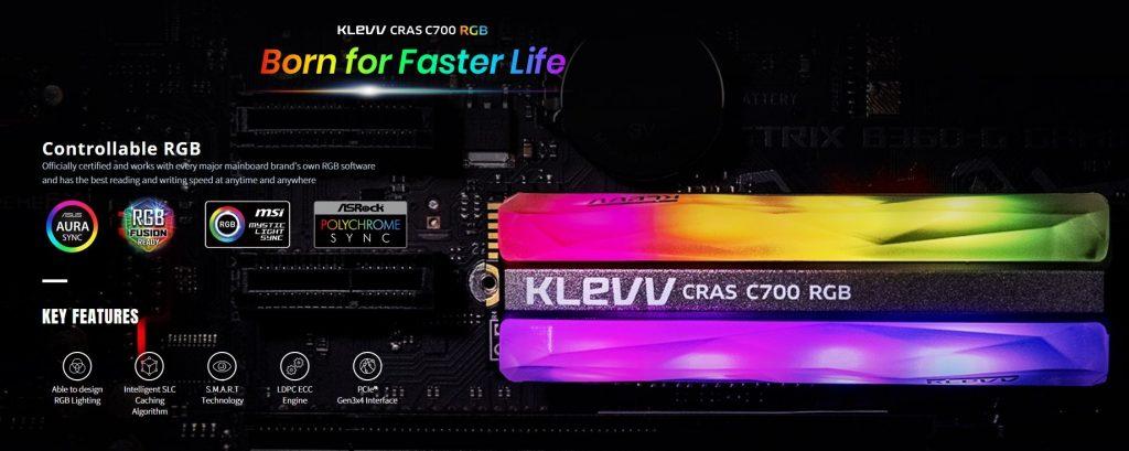 Klevv CRAS C700 RGB SSD Information
