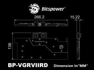 Bitspower Brizo Radeon VII Diagram
