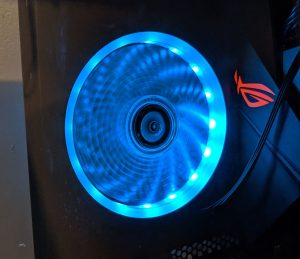 FSP CMT350 Case RGB Fan Blue