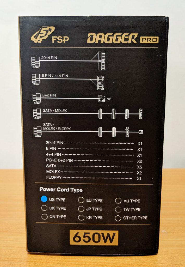 FSP Dagger Pro 650W SFX Box Right