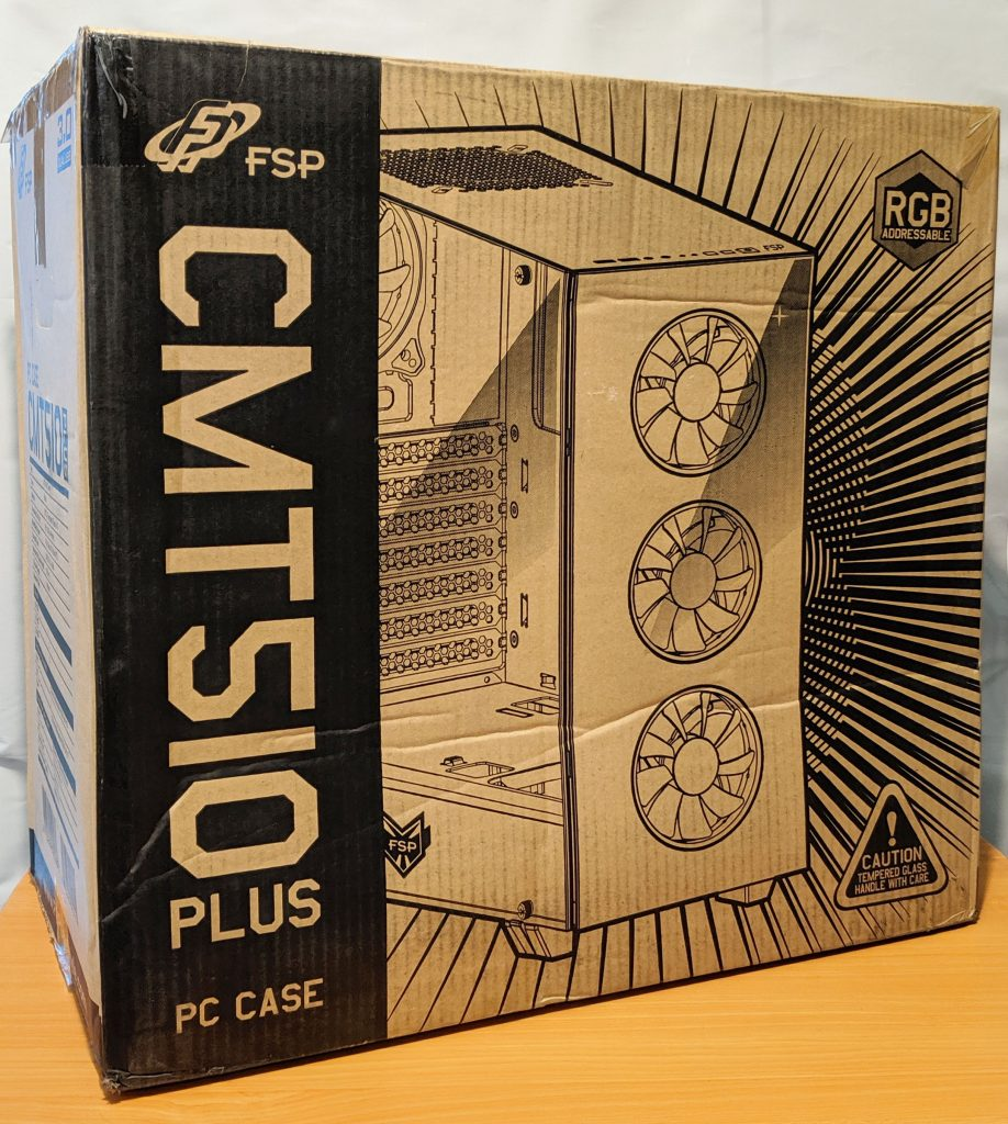 FSP CMT510 Plus Gaming PC Case Box Front