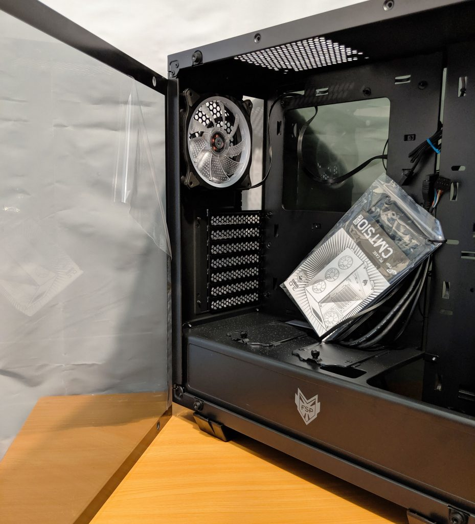 FSP CMT510 Plus Gaming PC Case Glass Inside