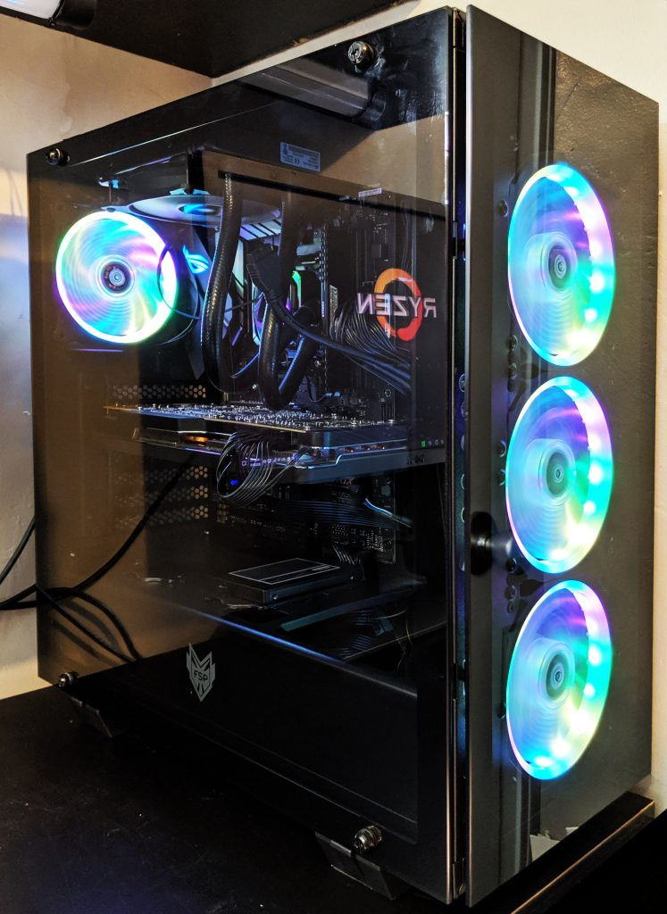 FSP CMT510 Plus Gaming PC Case Built