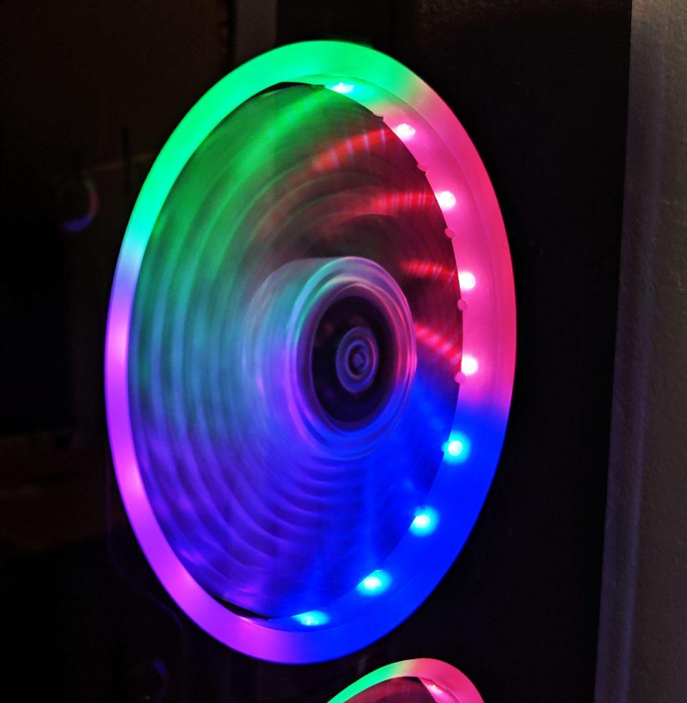 FSP CMT510 Plus Gaming PC Case RGB Fan ON