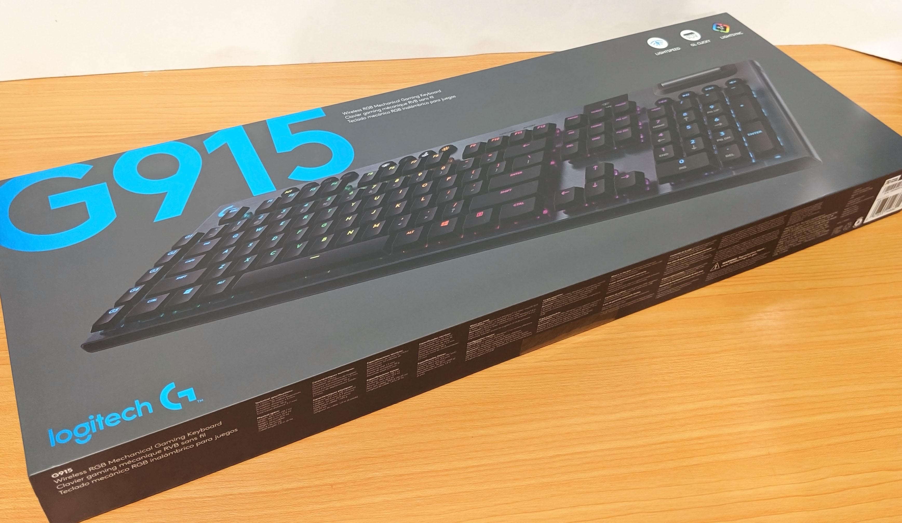 Logitech G915 LIGHTSPEED Gaming Keyboard Review (GL Clicky