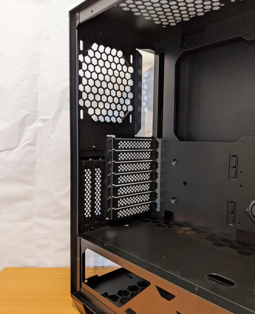 InWin 216 Case Review Inside Rear