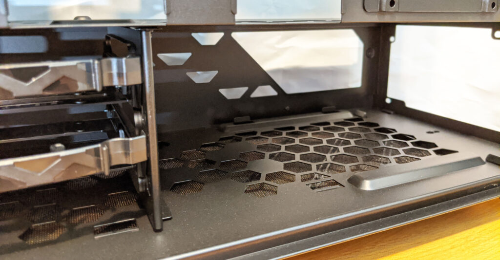 InWin 216 Case Review Inside PSU Mount