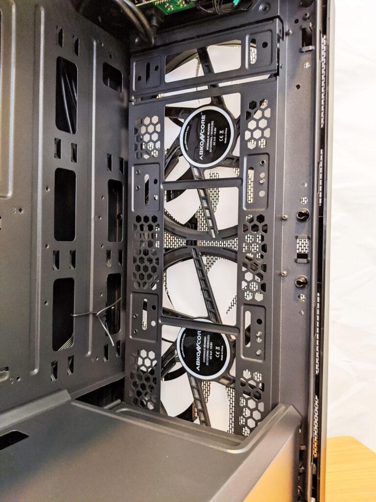 Abkoncore H600X Case Inside Front Fans