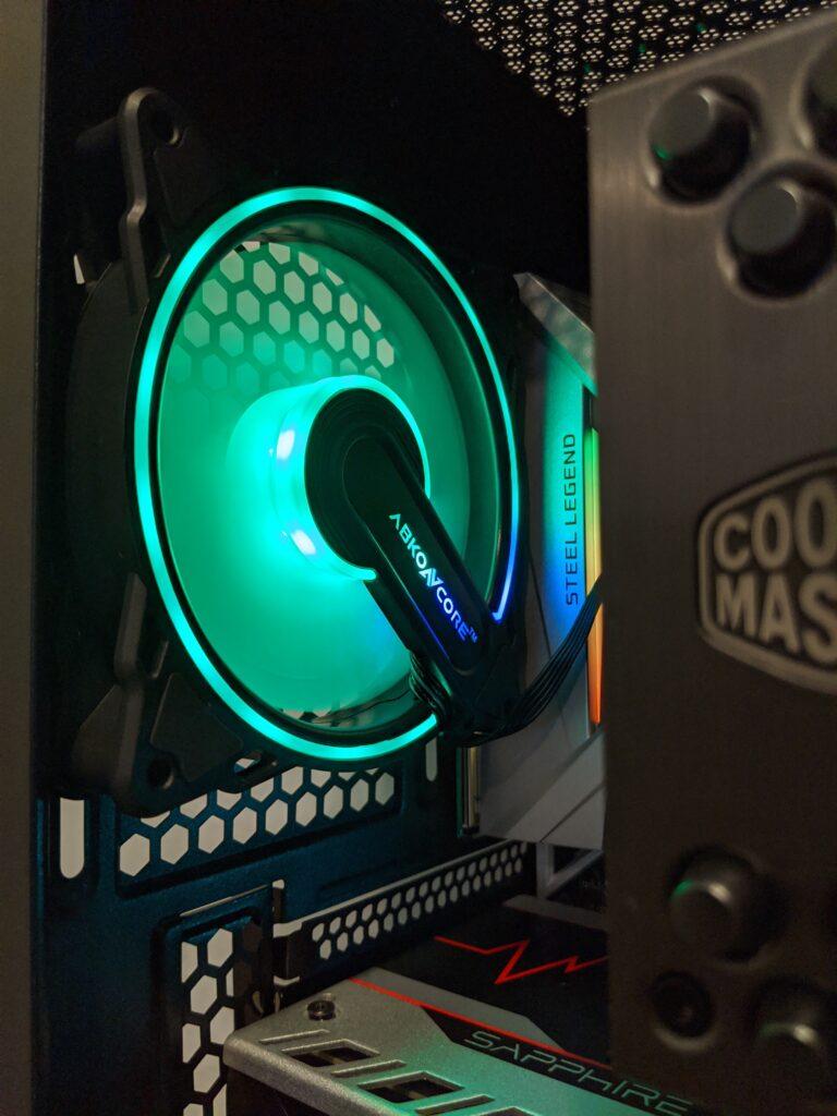 Abkoncore H600X Case Rear Fan Green