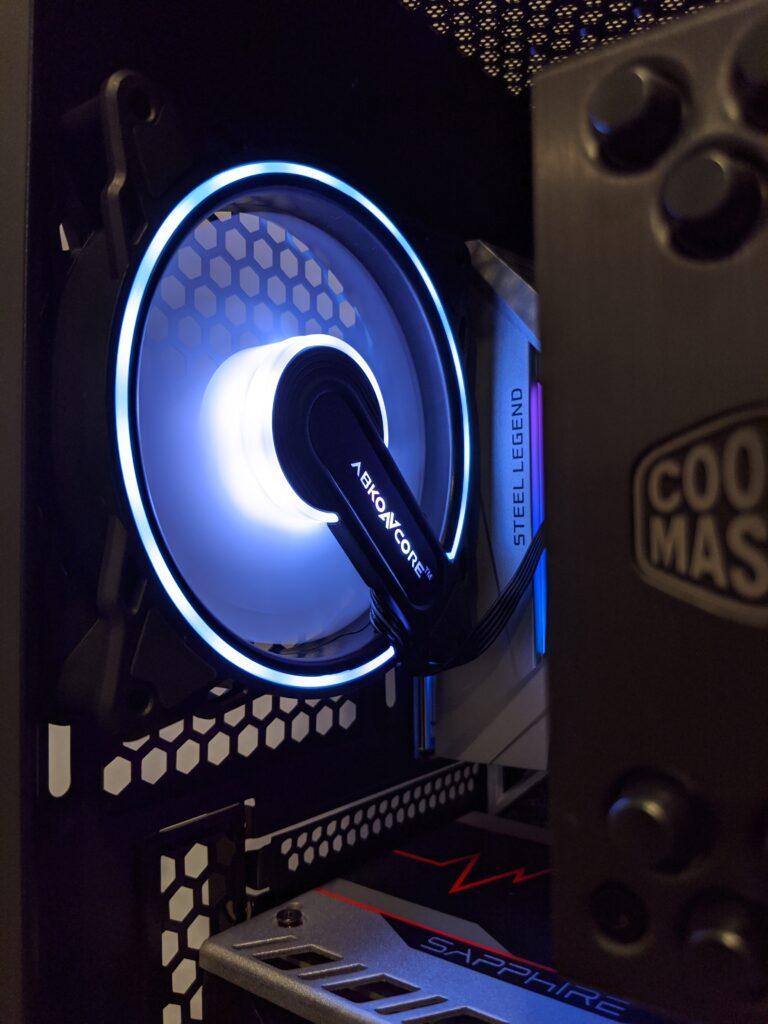 Abkoncore H600X Case Rear Fan Purple