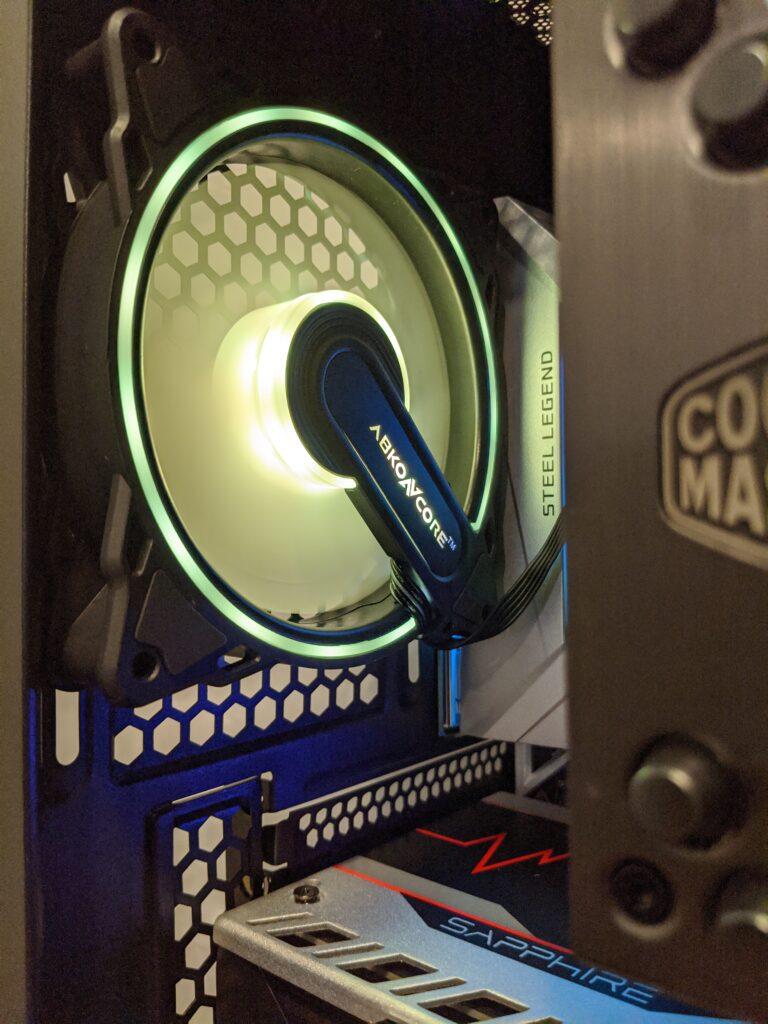 Abkoncore H600X Case Rear Fan Yellow