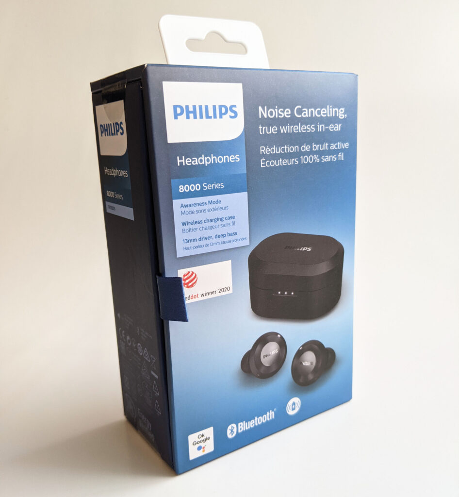 Philips TAT8505BK Earbuds Packaging Front