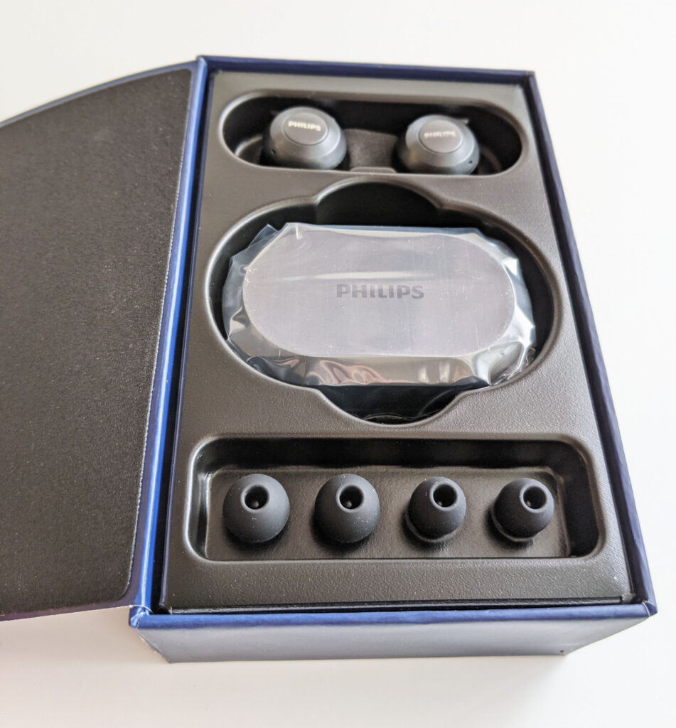 Philips TAT8505BK Earbuds Packaging