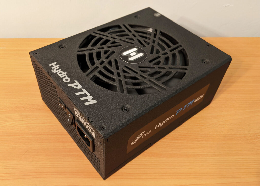 FSP Hydro PTM Pro PSU 1000W Front Angle