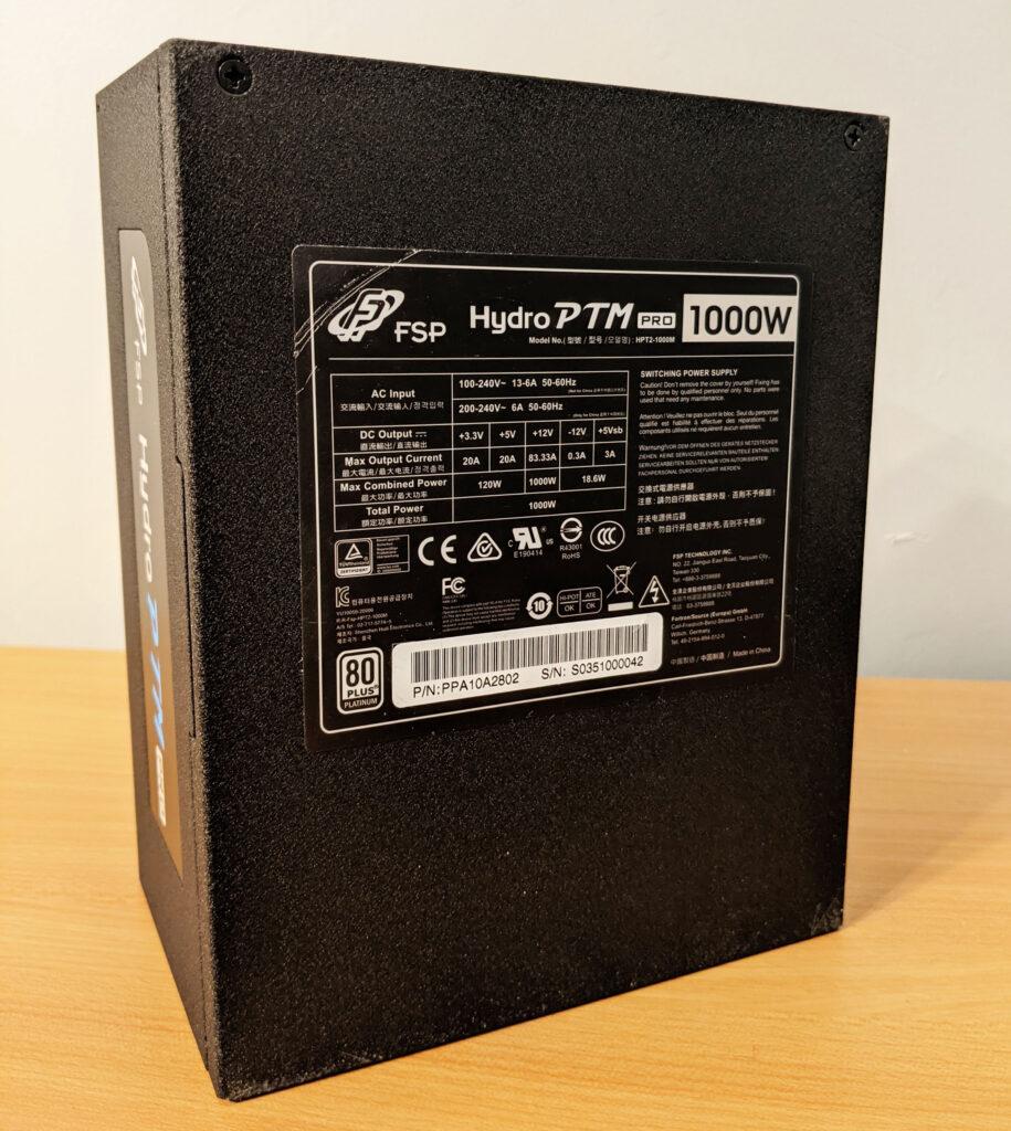 FSP Hydro PTM Pro PSU 1000W Bottom specs